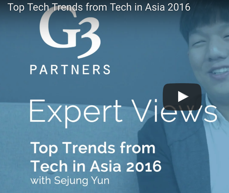 Top Tech Trends from Tech in Asia Singapore 2016